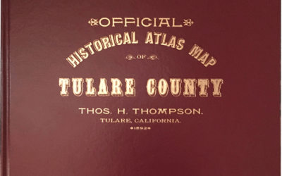 Historical Atlas Map of Tulare County