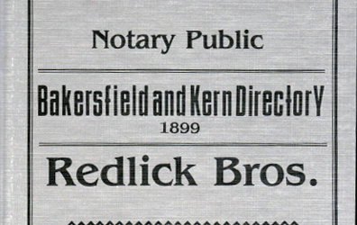 Bakersfield and Kern City Directory 1899